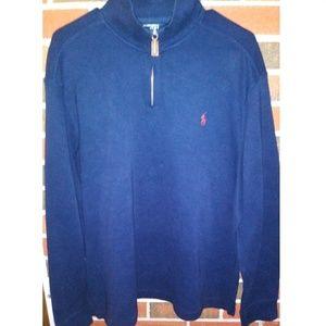 Polo by Ralph Lauren mens Large quarter zip